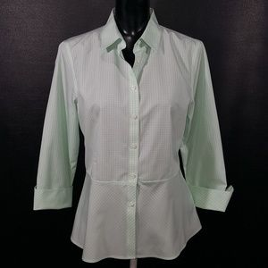 Brooks Brothers NWT Peplum Top Spring Green Blouse